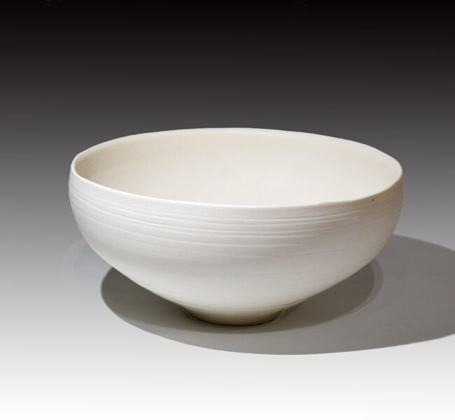 Taiko-Exhibition kuroda-taizo white porcelain bowl