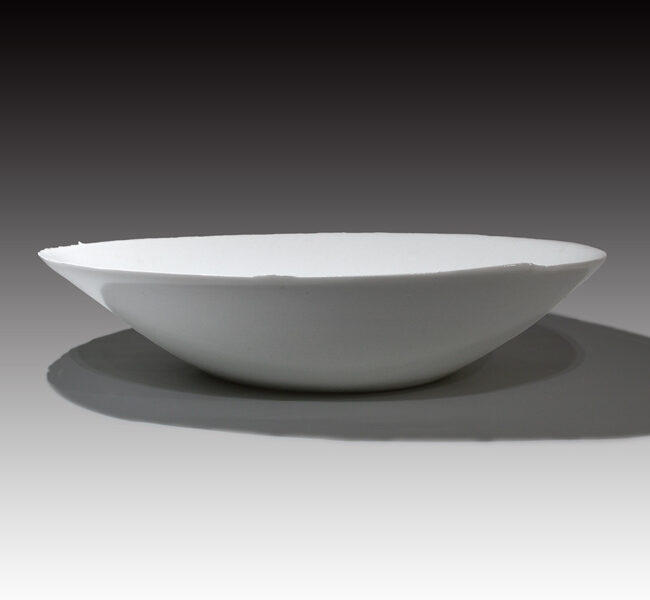 Taizo-Exhibition kuroda-taizo white porcelain bowl